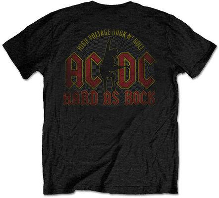 AC/DC Unisex Tee Hard As Rock Black (Back Print) M