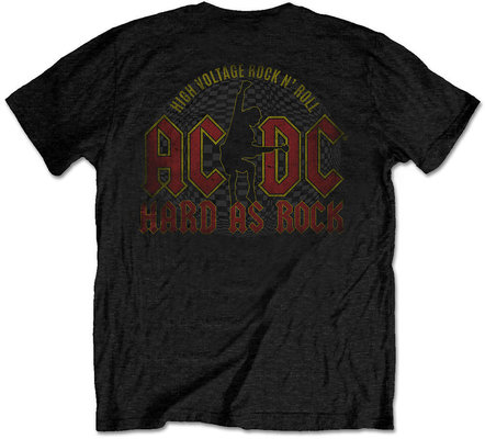AC/DC Unisex Tee Hard As Rock Black (Back Print) XXL