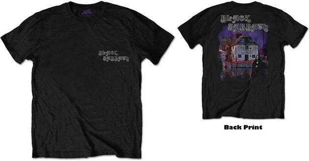 Black Sabbath Unisex Tee Debut Album (Back Print) L