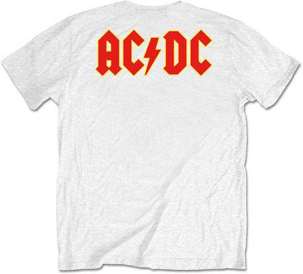 AC/DC Unisex Tee Logo White (Back Print/Retail Pack) M