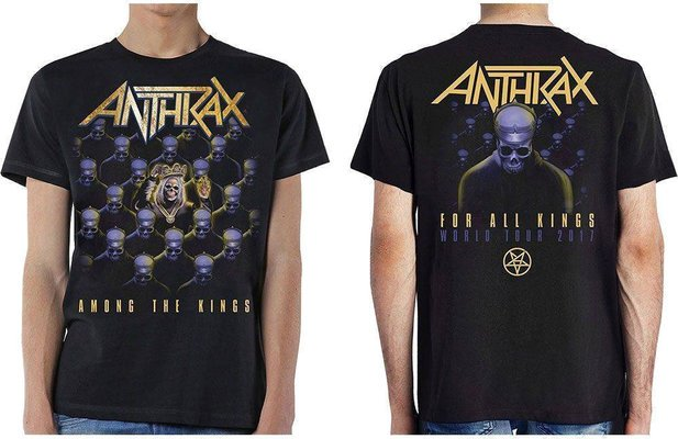 Anthrax Unisex Tee Among The Kings (Back Print) S