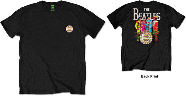 The Beatles Unisex Tee Sgt Pepper (Back Print/Retail Pack) L