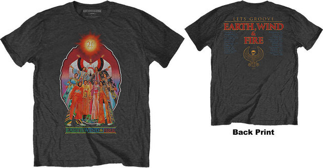Earth, Wind & Fire Unisex Tee Let's Groove (Back Print) L