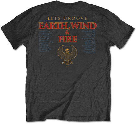 Earth, Wind & Fire Unisex Tee Let's Groove (Back Print) XXL