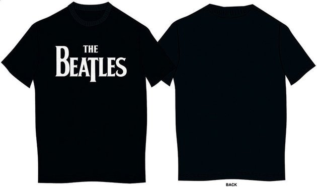 The Beatles Kid's Tee Drop T Logo Black (Boy's Fit/Retail Pack) (7 - 8 Years)