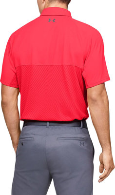 Under Armour Tour Tips Blocked Mens Polo Shirt Beta Red L