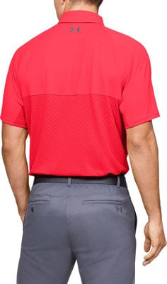 Under Armour Tour Tips Blocked Mens Polo Shirt Beta Red S