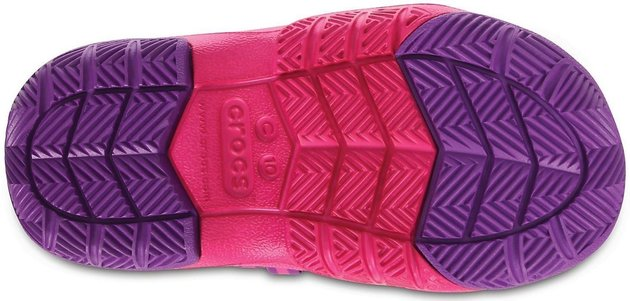 Crocs Kids' Swiftwater Waterproof Boot Party Pink/Candy Pink 24-25