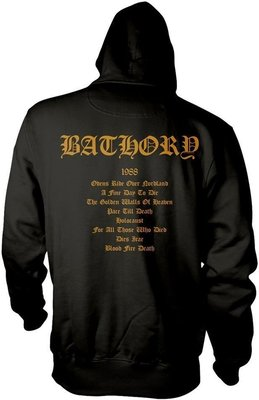 Bathory Blood Fire Death Hooded Sweatshirt L