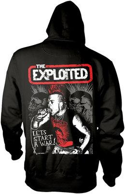 The Exploited Let's Start A War Hooded Sweatshirt M