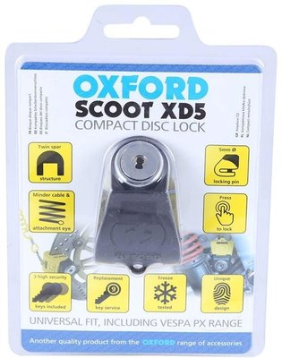 Oxford Scoot XD5 disc lock (5mm pin) Black