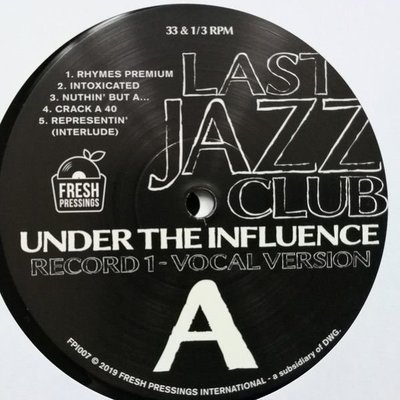 Last Jazz Club Under The Influence (2 LP)