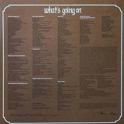 Marvin Gaye What's Going On (Vinyl LP)