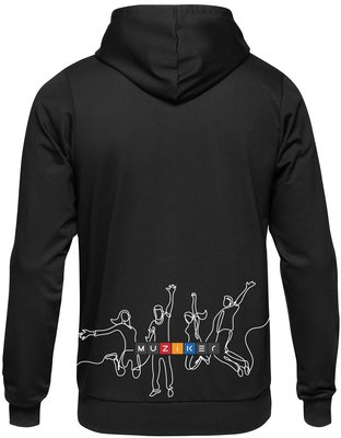 Muziker Time to Play Light Hoodie Womens Black S