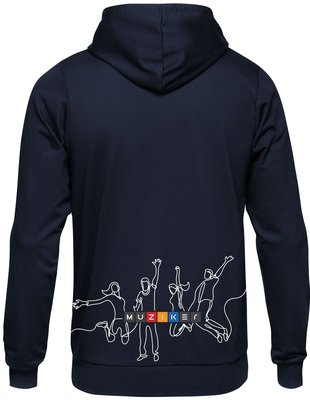 Muziker Time to Play Hoodie Blue 3XL