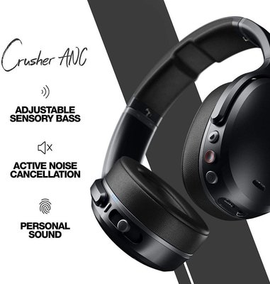 Skullcandy Crusher ANC Wireless Headphone Black/Black/Gray