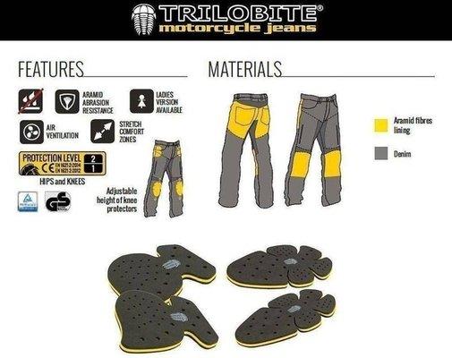 Trilobite 661 Parado TÜV CE 46 Men Jeans Blue Level 1