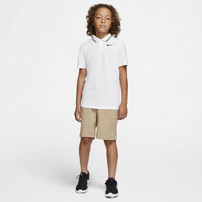 Nike Dri-Fit Victory Junior Polo Shirt White/Black L