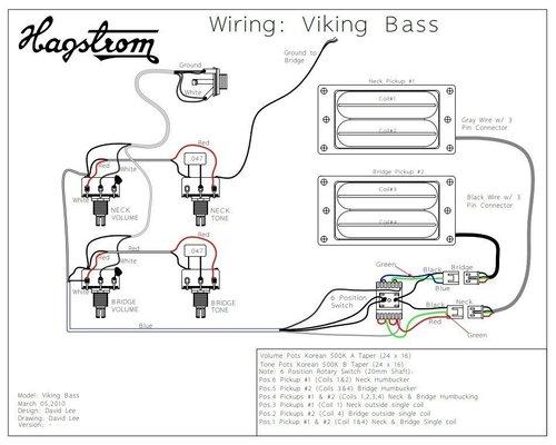Hagstrom Viking Bass Tobacco Sunburst