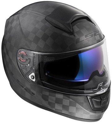 LS2 FF397 Vector Solid Matt Black Carbon L