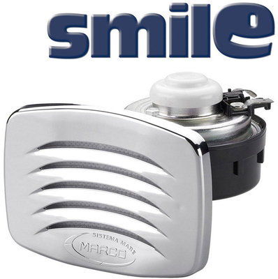 Marco SMILE Built-in horn with chromed grill
