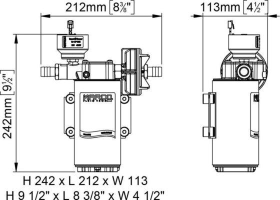 Marco DP12/E Deck washing pump + electronic control 5 bar