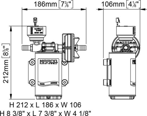 Marco DP9/E Deck washing pump + electronic control 4 bar