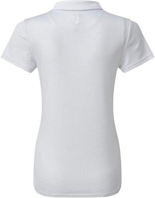 Footjoy Cap Sleeve Micro Interlock Dot Print Womens Polo Shirt White XS