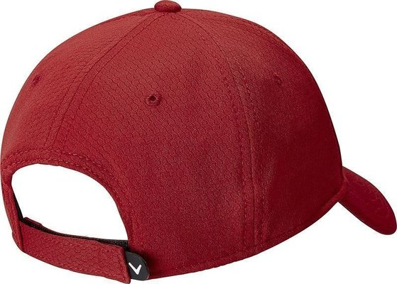 Callaway Mens Side Crested Structured Cap Red