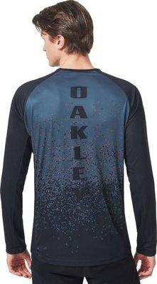 Oakley MTB LS Tech Tee Grey Pixel Print L