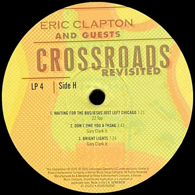 Eric Clapton Crossroads Revisited: Selections From The Guitar Festival (6 LP)