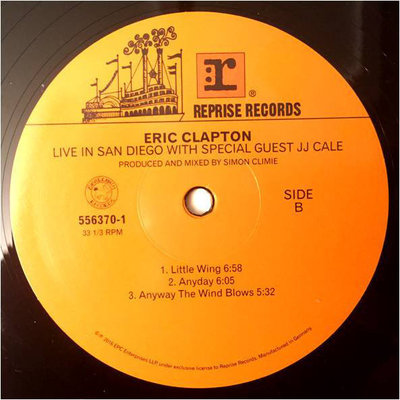 Eric Clapton Live In San Diego (With Special Guest Jj Cale) (3 LP)