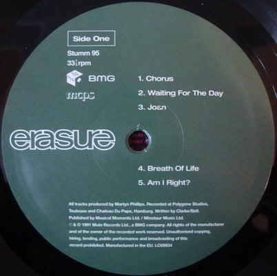 Erasure Chorus (Vinyl LP)