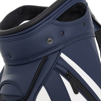 J.Lindeberg Staff Synthetic Leather Stand Bag JL Navy