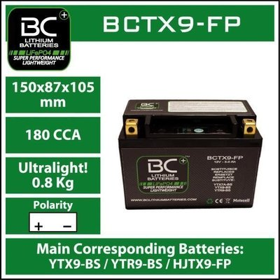 BC Battery BCTX9-FP Lithium Battery