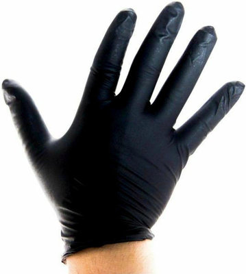 Lindemann Nitrile Gloves Black (100 pcs) XL