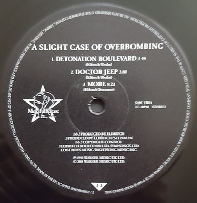 Sisters Of Mercy Greatest Hits Volume One: A Slight Case Of Overbombing