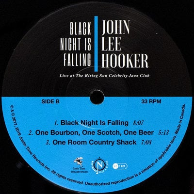 John Lee Hooker Black Night Is Falling Live At The Rising Sun Celebrity Jazz Club (Collector'S Edition)