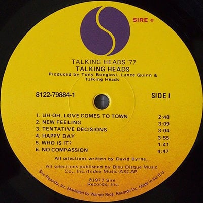 Talking Heads 77 (Vinyl LP)