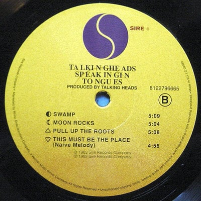 Talking Heads Speaking In Tongues (Vinyl LP)