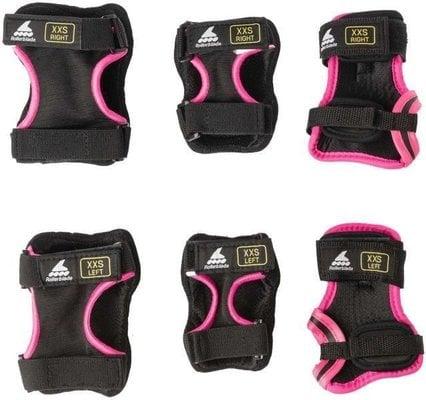 Rollerblade Skate Gear Junior 3 Pack Black/Pink 3XS