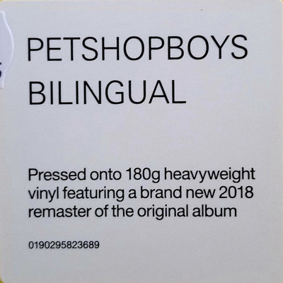 Pet Shop Boys Bilingual