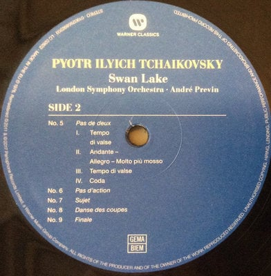 Andre Previn Tchaikovsky: Swan Lake (3 LP)