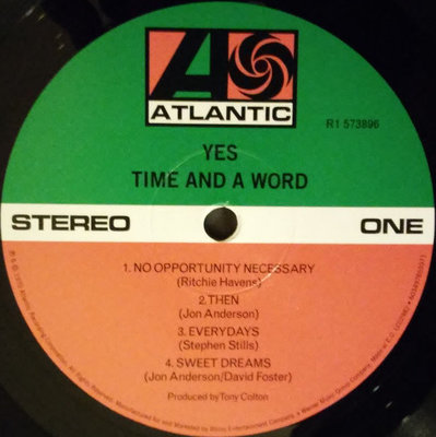 Yes RSD - Time And A Word (Black Friday 2018)