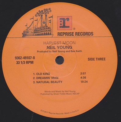 Neil Young RSD - Harvest Moon (2017 Remastered)