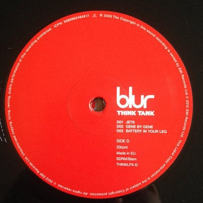 Blur Think Tank (Vinyl LP)
