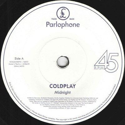Coldplay RSD - Midnight