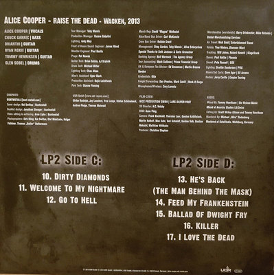 Alice Cooper Alice Cooper - Raise The Dead - Live From Wacken (3 LP)