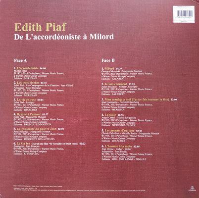 Edith Piaf De L'Accordeoniste A Milord