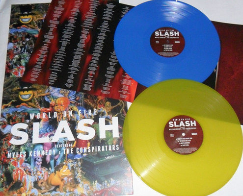 Slash World On Fire  (Blue & Yellow Vinyl) - Limited (2 LP)